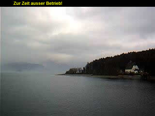 Webcam des Gstehauses Seehof am Walchensee