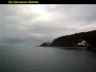 Webcam des Gästehauses Seehof am Walchensee